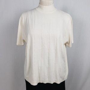 Sag Harbor Light Sweater Women's Size 2X Ivory
